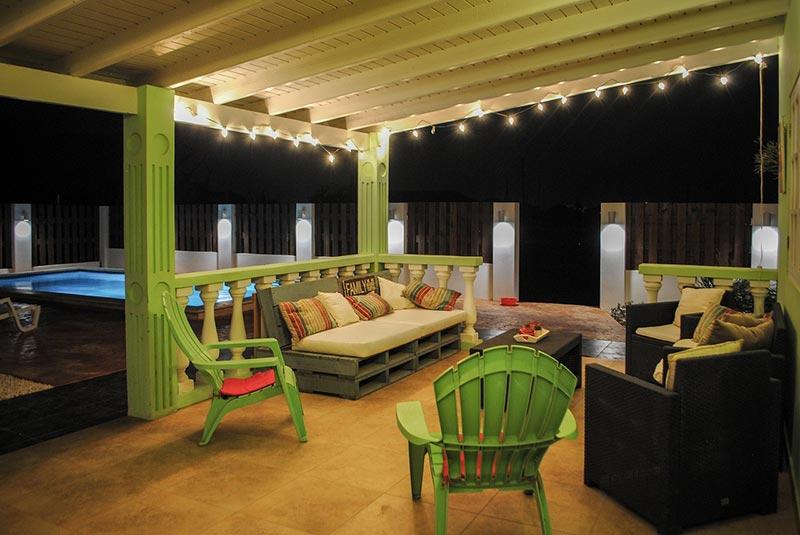 Vakantiehuis Aruba Villa La Granda - Veranda